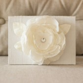 Ceremony Reading Book - Big Flower Bloom - Silk Vow Folio - Wedding Vow Keepsake