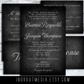 Chalkboard Elegance Rustic Wedding Suite