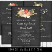 Chalkboard Vintage Floral Wedding Suite