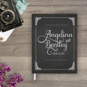 Wedding Guestbook - Chalkboard Art Guest Book (gb0009)
