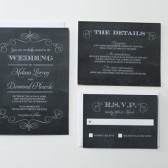 Fancy Chalkboard Wedding Invitations