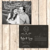 Chalkboard Postcard Save the Date