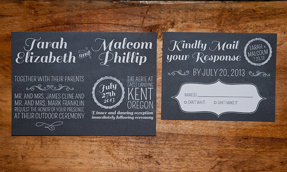 chalkboard wedding invite