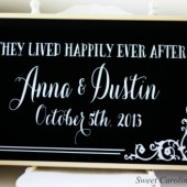 Chalkboard Wedding Sign - Large