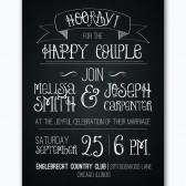 rustic chalkboard WEDDING invitation custom printable