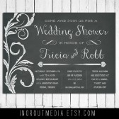 Chalkboard Wedding Shower Invitations