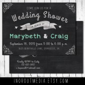 Chalkboard Wedding Shower Invitation