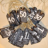 Seating Escort Number Tags Chalkboard