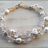 Champagne Pearls Necklace