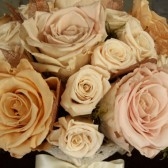 champagne, blush and ivory bouquet