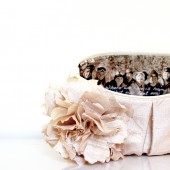 Champagne silk bridesmaids clutch
