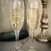 Custom Engraved Champagne Glasses