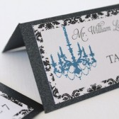 Damask Chandelier Place Cards
