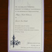 Chandelovely Wedding Invitation with Satin Belly Band
