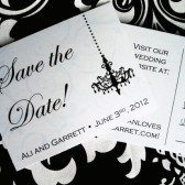 Chandelovely Save the Date Postcard