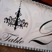 Chandelovely Table Number Sign