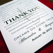 Chandelovely Guest Thank You Card