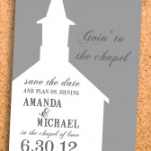 goin' to the chapel save the date