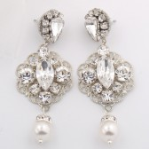Charlie chandelier bridal earrings