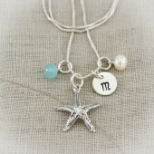 Starfish Initial Necklace