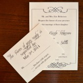 Cheap and Chic Wedding Invitation
