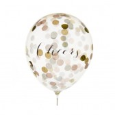 Cheers Balloons with Confetti in Blush Mix