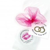 last fling, kissing single life goodbye, rings, bridal shower, bachelorette, lip balm