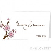 Place Card Template - Cherry Blossom