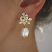 Cherry Blossom Pearl Earrings