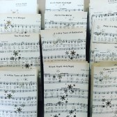 Christmas Carol Luminaries, Christmas Wedding, Winter Wedding, Luminaries