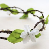 Boho Flower Hair Wreath.
