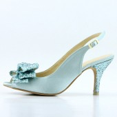 Something Blue Slingback Bridal Shoes
