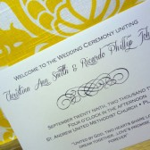 Classica Calligraphy Wedding Program