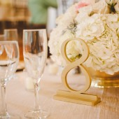 True Gold Wedding Table Numbers