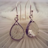 Clear Faceted Teardrop Earrings