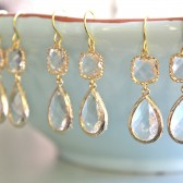 Clear Earrings, Set of 3