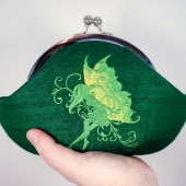 Clover green fairy clutch