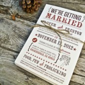 Wedding Invitation: Modern and Rustic Whimsical Tree