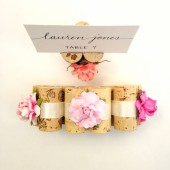 On Sale - Place Card Holder wrapped in Satin Ribbon
