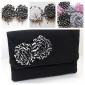 bridesmaid gift set, clutch and hair accessory