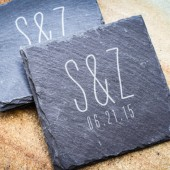 Custom Engraved Slate Coaster