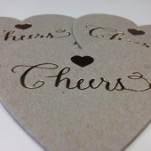 Heart Shaped Letterpress Coasters