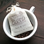 Personalized coffee favor bags, The Perfect Blend
