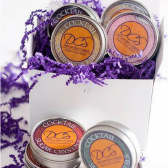 Sari colored cocktail rim sugar gift set