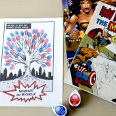 Comic Book Superhero Fingerprint Tree Guestbook