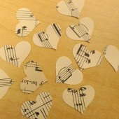 music heart confetti
