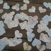 map heart cutouts