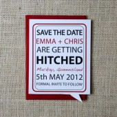 Conversation Bubble Save the Date Cards