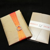 Tan and Coral Wedding Invitations