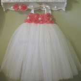 coral flower girl dress